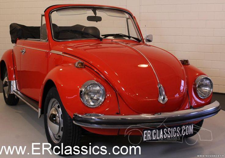 Vente voiture ancienne de collection : Volkswagen Coccinelle cabriolet 1974, rouge, en tres bon etat - Petite annonce véhicule et automobile