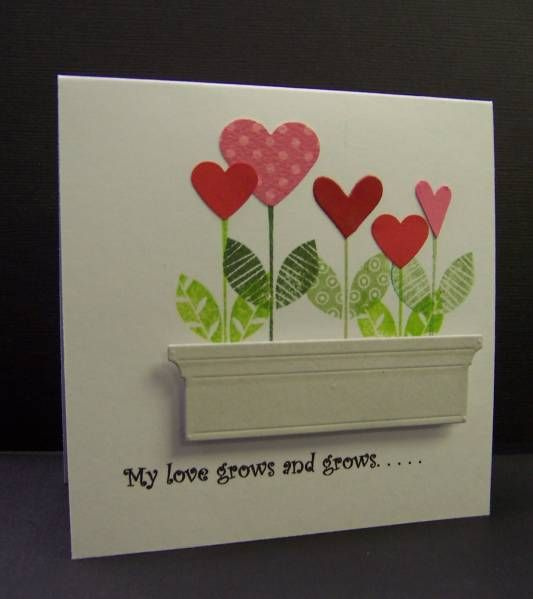 *CAS152 My Love Grows by hobbydujour - Cards and Paper Crafts at Splitcoaststampers  large window box