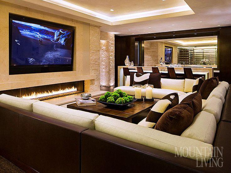 I wish - LOVE the fireplace!