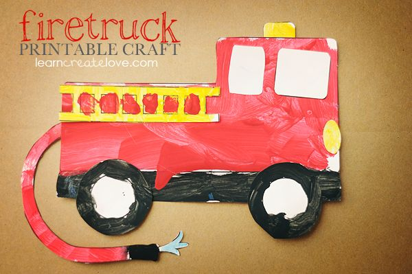 { Printable Firetruck Craft }