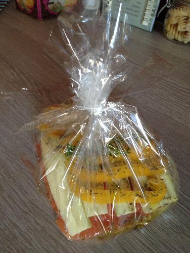 Saumon en papillote provençale