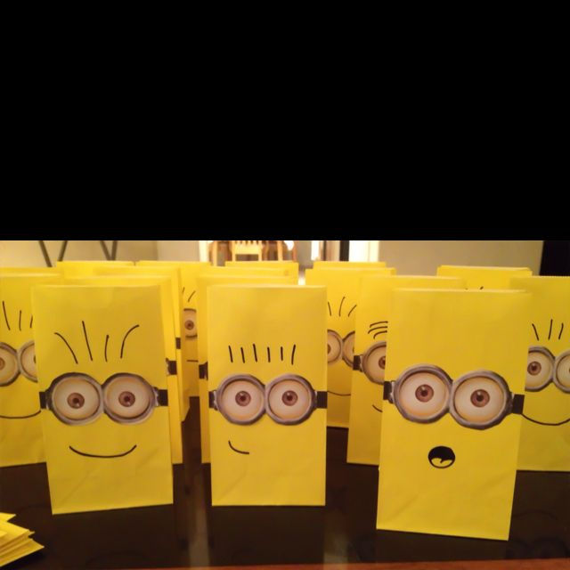 Marcus's Minions. Party bags for Despicable Me Themed Bday.