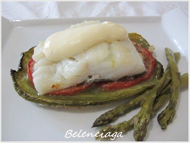 Bacalao al horno sobre verduras (dieta) - Belenciaga paso a paso