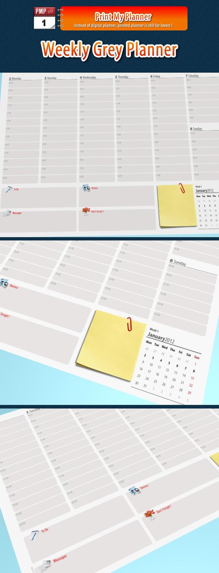 Weekly Calendar Notebook : Best organizing printables home managment binders