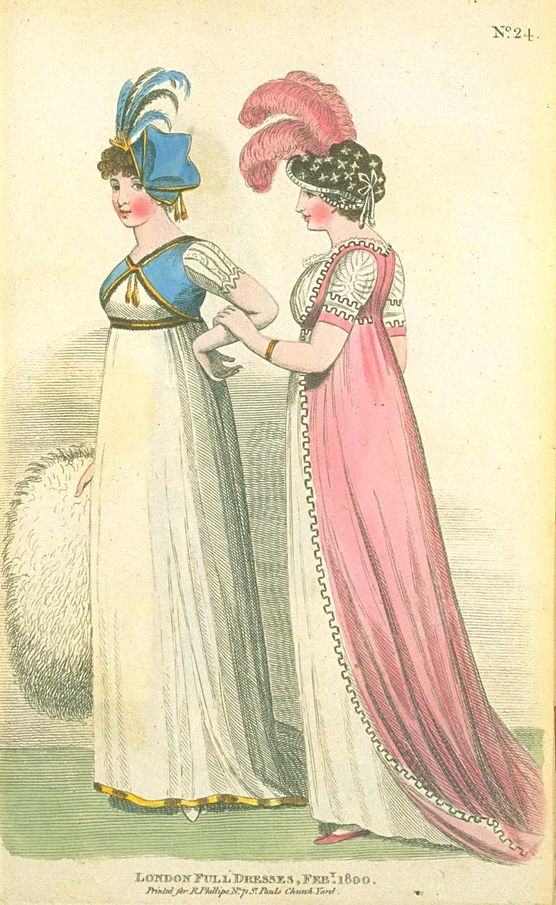 London Full Dresses, February 1800, Fashions of London & Paris