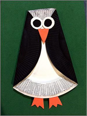 Pappteller Pinguin