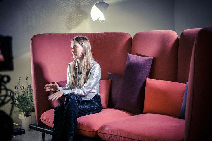 Lera Moiseeva at the Presentation of Sofa4Manhattan Collection #milandesignweek