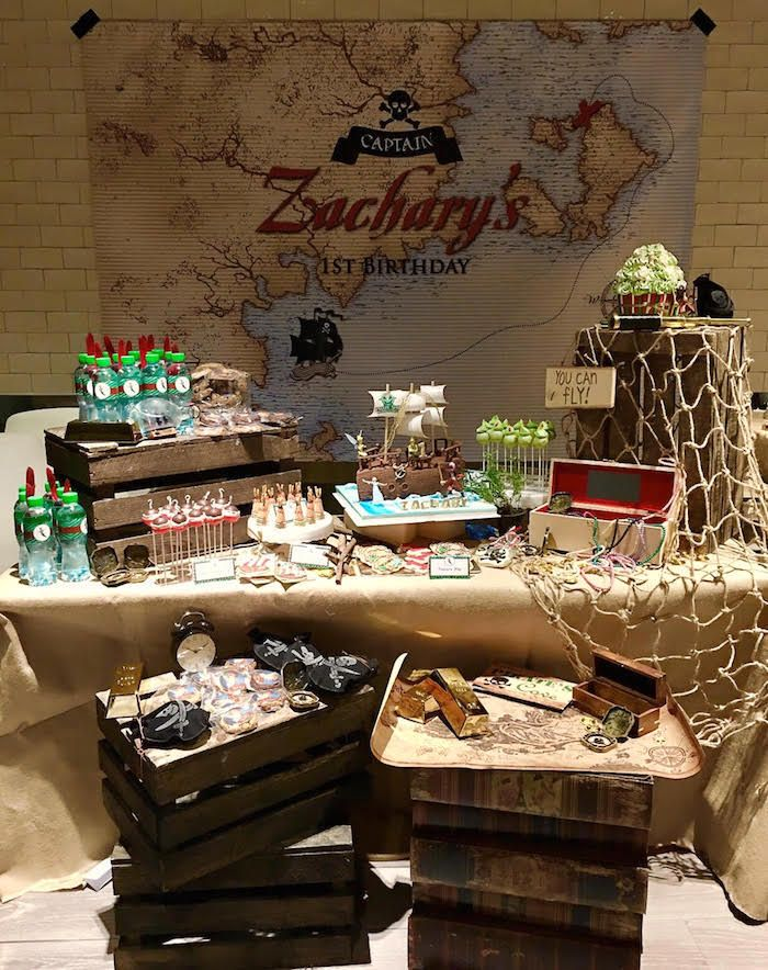 Dessert table from a Peter Pan Birthday Party on Kara's Party Ideas | KarasPartyIdeas.com (4)