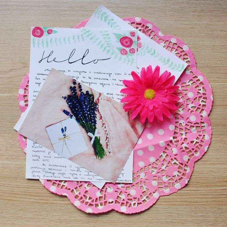 Pink and floral letter