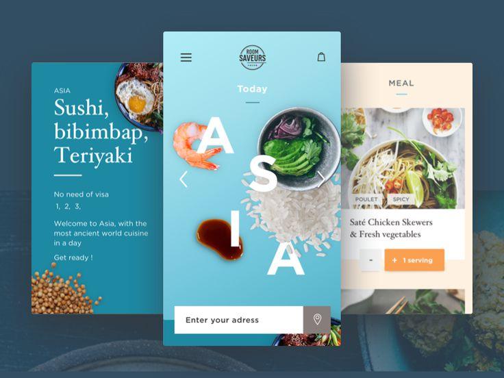 Food App by Celia Paysan #Design Popular #Dribbble #shots