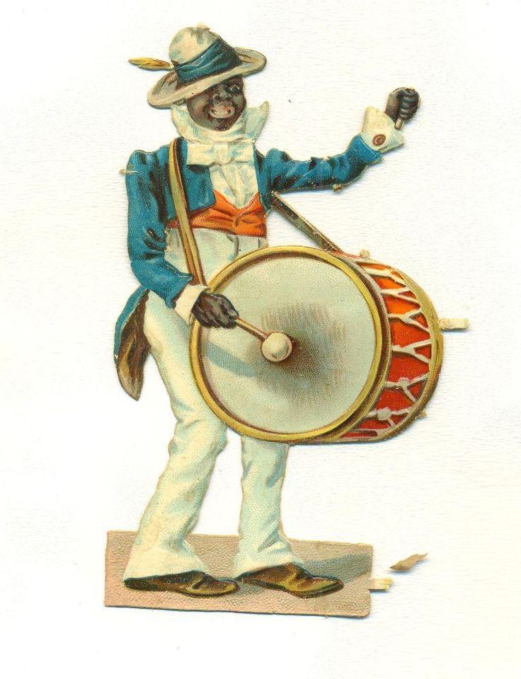 victorian scrap minstrel