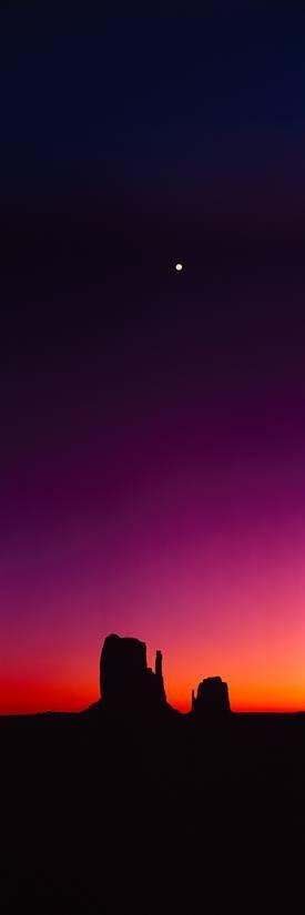 ~~Sunset Desert Silhouette | The Mittens, Monument Valley Arizona~~