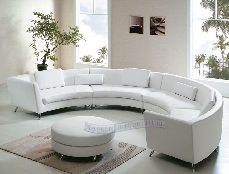Comfortable Curved Sectional For Elegant Living Room Design: Leather Curved  Sofa | Semi Circular Sofas
