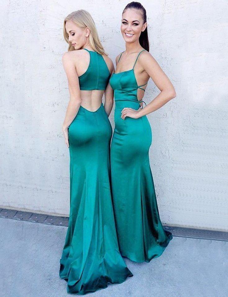 Prom dress long back