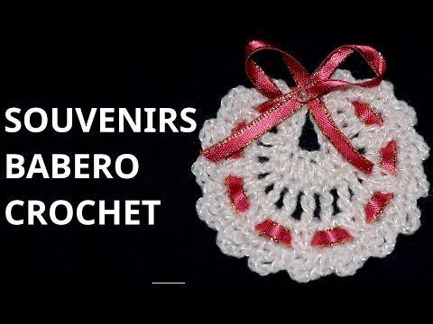 Como tejer Souvenirs Modelo Babero en tejido crochet tutorial paso a paso. - YouTube