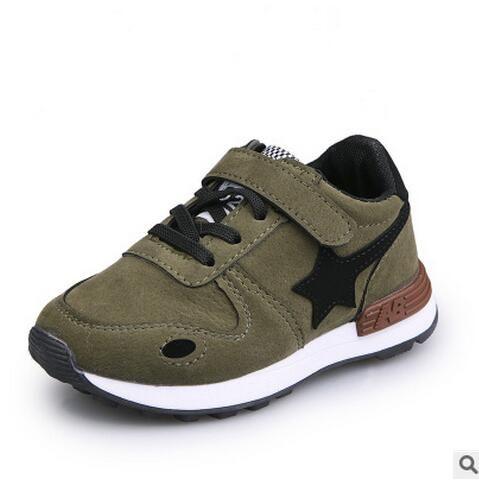82f5a3ae0c3 Kinderen Casual Sportschoenen Baby Jongens Meisjes Zachte Sneakers Kids  kant-up Kind Leer Loopschoenen Kids Martin Sneeuw Boot