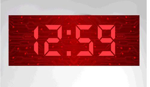 Coolest latest gadgets – Geeky Clocks – The Big Time Digital Wall Clock – New technology gadgets – High tech electronic gadgets | Sclick