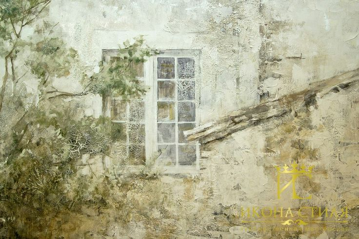 Aged textured mural on the wall. #paint #draw #interior #decor #design #mural #painting #fresco