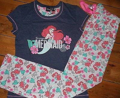 PRIMARK LADIES DISNEY ARIEL THE LITTLE MERMAID PYJAMA SET PYJAMAS UK 6 - 20