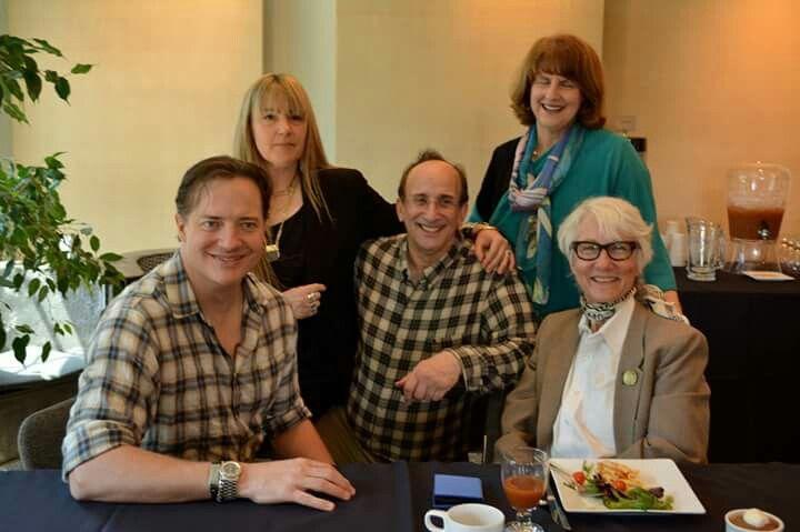 Brendan Fraser, Eleuthera Lisch, me, Nancy Usher, Diane Schenkar.