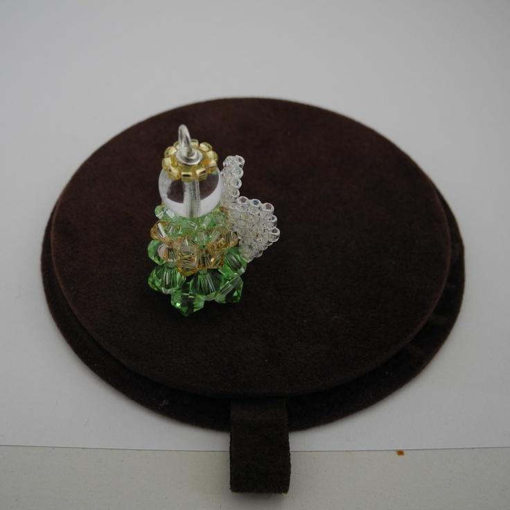 angioletto swarovski con ali in peyote