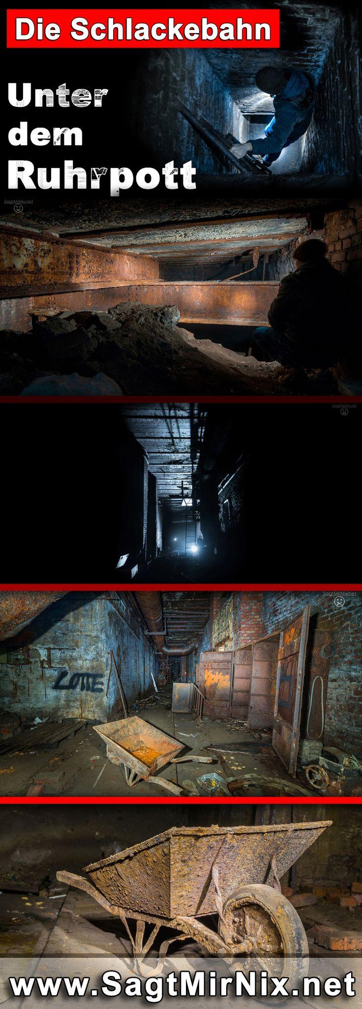 """Ein wahrhaft faszinierender Lost Place: Die unterirdische """"Schlackebahn"""" in Bochum im Ruhrgebiet / NRW. Einst wurde hier die glühende Schlacke des Stahlwerks darüber abtanspoertiert. Nun schlummert sie seit Jahrzehnten unter der Stadt."""