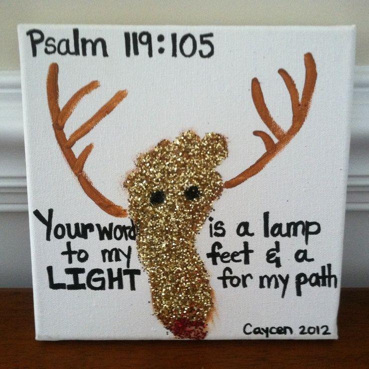 christmas bible verses | Christmas footprint with bible verse | Christmas