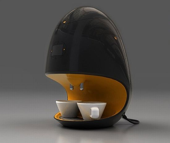 Presovar by Martin Necas. Presovar represents the next generation of designer coffee makers which not only perform to the tee but also add a hint to glamor to the kitchen space.