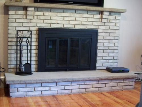I 39 M Going To Paint Our Old Brick Fireplace Mantels
