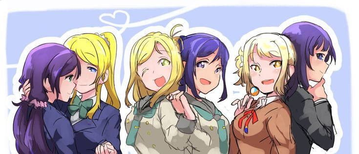 Why are blonde and violet-haired girl pairs always the holy otp........