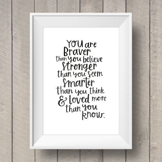 Winnie The Pooh Quote - Nursery Printable - Kids Bedroom - Disney Quote Artwork - Hand Lettering Printable - Nursery Decor - AA Milne Quote