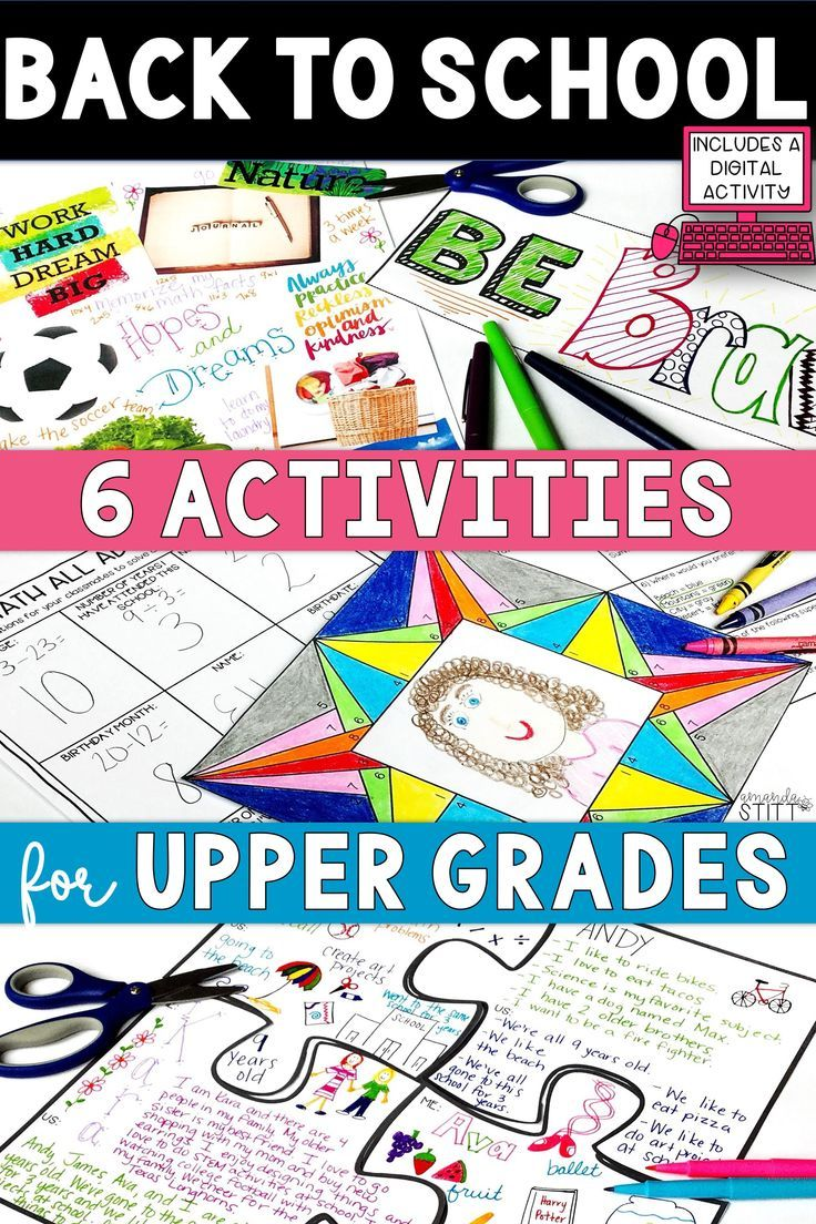 small resolution of Creative back to school activities for upper elementary students! Fun ideas  for kids in…   Back to school activities