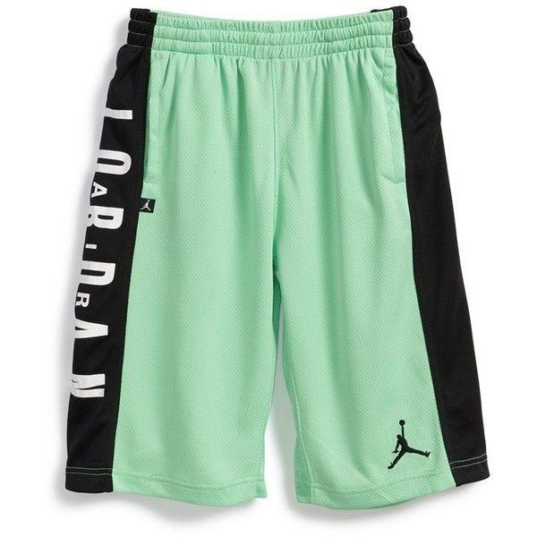 Nike 'Jordan Highlight' Basketball Shorts (Big Boys) ($42) ❤ liked on Polyvore featuring pants and shorts