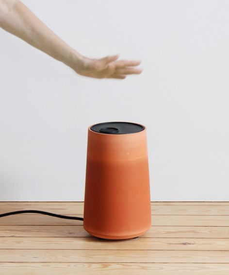 Cold Pot by Thibault Faverie Design Studio - a terracotta pot inspired by natural system to gradually lower the air temperature through process of evaporation.