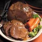 Slow-Cooked Rump Roast Recipe-horseradish an interesting addition.