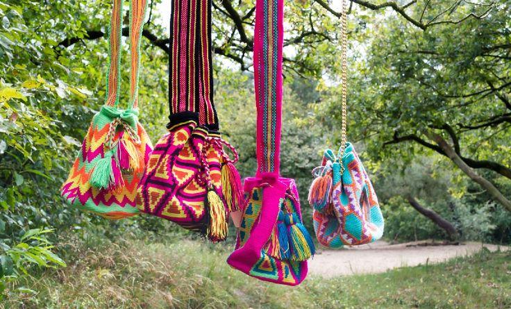 WayuuMochila Chila mini bags at www.wayuumochilaartbags.nl instagram: @wayuumochilaartbags