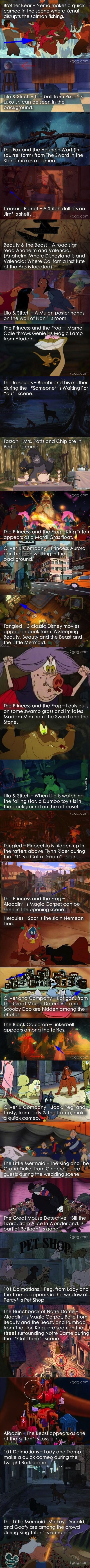 Hidden gems in Disney movies. These are actually good ones I haven't seen before