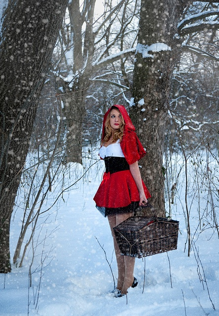Little Red Riding Hood by Boscopix, via Flickr - Little Red Riding Hood is always Sexy !!!