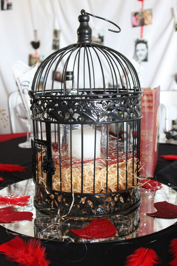 Bird cage and candles