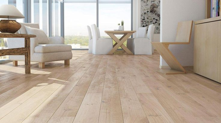 Barlinek Oak Sense is an extra wide engineered plank floor with a white brushed natural oil finish. These boards have a really rustic textured surface and with its light pigmented stain, provides a bold look that will stand out amongst your interior.