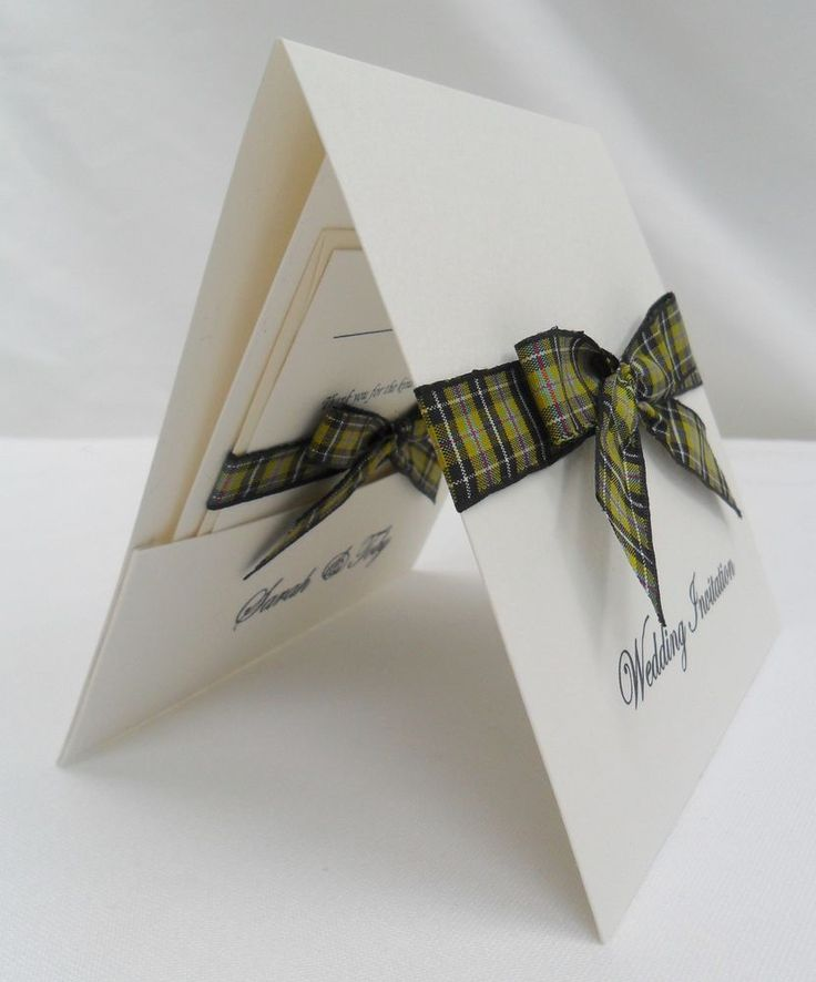 Handmade Pocketfold Wedding Invitations - THE DUCHY in Home, Furniture & DIY, Wedding Supplies, Cards & Invitations | eBay!