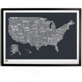 Love how Bold and Noble used typography to create these gorgeous-looking maps of the UK and Ireland, Australia, New-Zealand, London and the USA.
