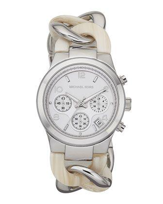 I need it. Michael Kors Runway Twist Watch, Safari Print.