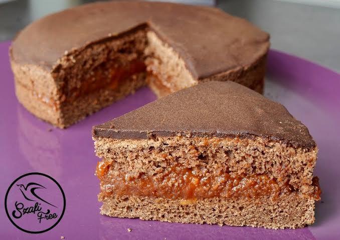 Szafi Free kalóriaszegény sacher torta (gluténmentes, tejmentes, tojásmentes, HCLF vegán, olajmentes)