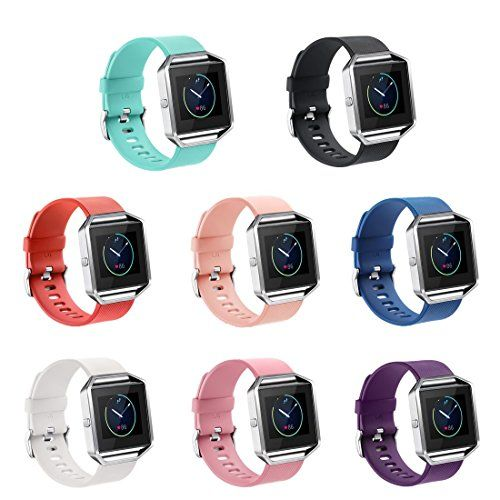 GinCoband Fitbit Blaze Bands Replacement For Fitbit Blaze Smart Watch No tracker 8 Color Large Small Women (Black Large)