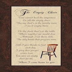 mom's empty chair   Empty Chair Poem - Gift Ideas