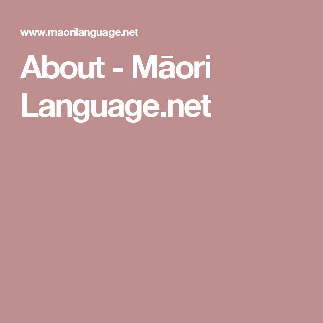 About - Māori Language.net