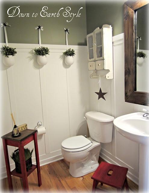 down to earth style board u0026 batten bathroom moss by benjamin moore