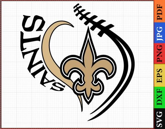 New Orleans Saints SVG Files, New Orleans Saints NFL Printable, NFL Clipart, Football Logos, svg dxf, Vector Layered Files, Cricut Files