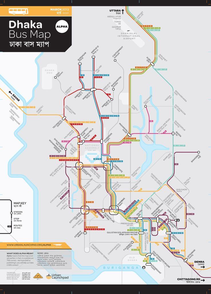 dhaka bus map bangladesh geography pinterest. Black Bedroom Furniture Sets. Home Design Ideas